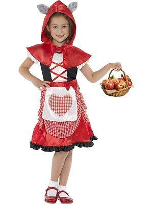 RED RIDING HOOD COSTUME WITH CAPE AND WOLF EARS CHILD FANCY DRESS 3 - Wolf And Red Riding Hood Costume