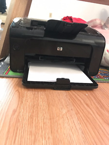 Almost new laserjet printer with free paper
