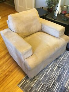 Large comfy Microsuede chair