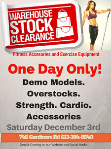 Fitness Equipment Clearance Sale!