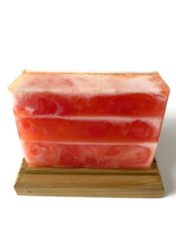 Fresh Peach Scent - Homemade Shea Butter Soap - Detergent Fr