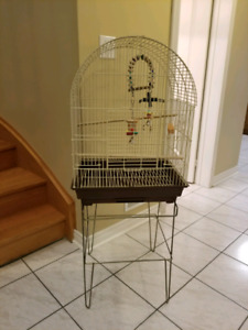 Bird cage & stand + extras