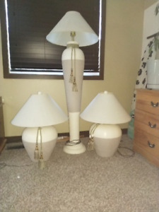 Floor lamp / matching table lamps