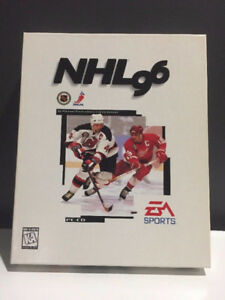 MINT CIB NHL 96 BIG BOX PC GAME. w/ ORIGINAL TRADING CARD PACK!