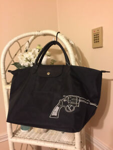 """Like NEW! Authentic Longchamp Limited Edition Gun """"Bang"""" Tote"""