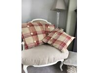 Laura Ashley Cranberry cushions