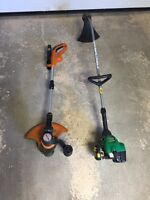 Gas and Electric trimmer and edger Coupe Bordures