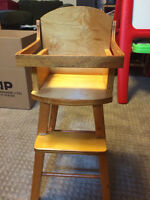 hand built high chair for dolls