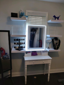 Helle white vanity table / desk
