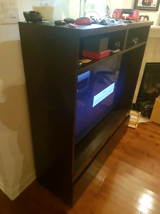 Free standing tv cabinet with 2 drawers