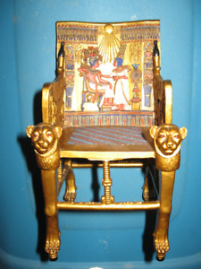 1/6 Scale Egyptian King Tut's Throne Zemeno