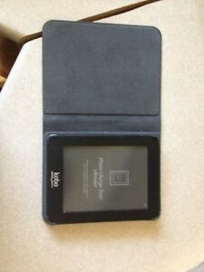 kobo book reader and leather case