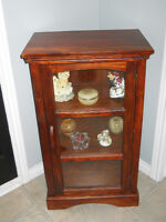 solid wooden display cabinet