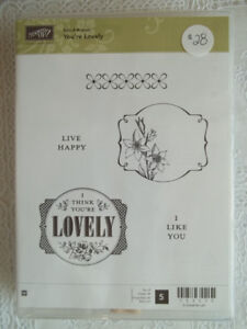 """""""Stampin' up""""  stamps... """"You're lovely"""""""