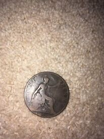 One penny coin rare collector item