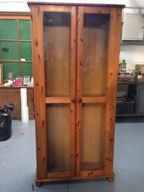 Large pine cupboard / large bookcase with doors