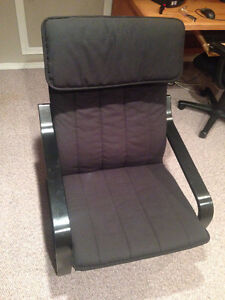 Black IKEA Poang Chair