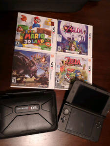 Nintendo 3DS XL with 4 good games