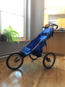 Jogging baby stroller all weather / poussette course à pied