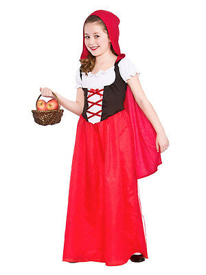 Kids Little Red Riding Hood Girls Fairytale Fancy Dress Costume Book Day (Little Red Riding Hood Kid Kostüme)