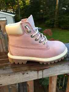 Kids Dusty Pink Timberland Boots Size 10c
