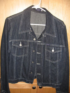 Women's Size Large Denim Jacket by Guess.