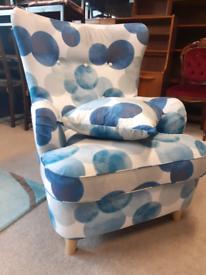 🤩🤩🤩Brand New Ex-Display Blue Fabric Chair 🤩🤩🤩
