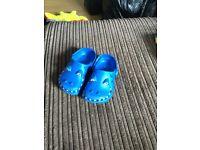 Next blue croc style shoes