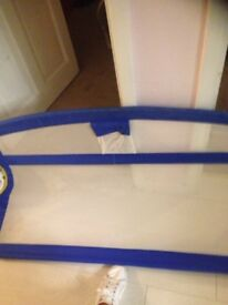 Tomy Blue White Childs Baby Bed Guard Safety Aid