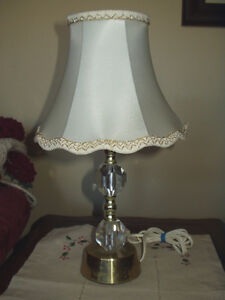 Vintage Shabby Cottage Chic PRESSED GLASS Boudoir Lamp