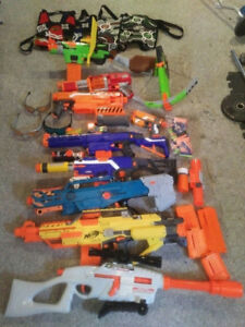 Nerf gun collection for sale!