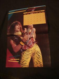 Rock Fever Poster Calendar 1985 Van Halen & Michael Jackson etc Belleville Belleville Area image 4