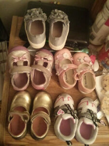 Gently used pair of shoes size 5months to 2 years all colours