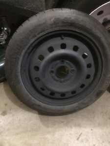 Spare donut tire from focus.