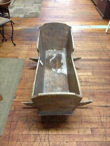 Early Antique Child's cradle. London Ontario image 2
