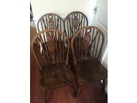 4 wheel back dining room chairs - perfect for referb