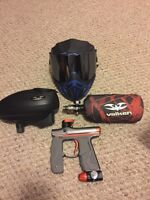 Empire mini GS paintball marker and empire event mask