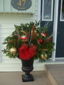 Fresh Bough Outdoor Christmas Urn