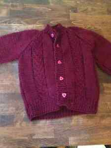 Hand Knit / Hand made Baby Sweaters Cambridge Kitchener Area image 6