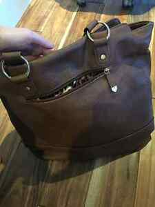Foreli Brown genuine leather hand bag Cambridge Kitchener Area image 2