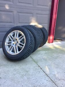 215/55R17 Like New Tires with Rims