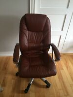 Office chair - Brown leather