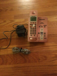 Pink panasonic phone