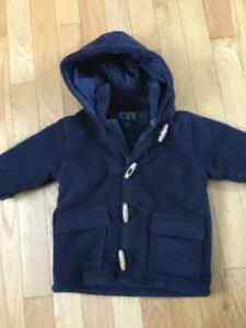 Children's Place warm winter coat with zipper & toggle buttons