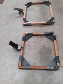 Bases for machines, carpentry ,bandsaw etc wheels around workshop