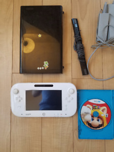 Wii u 32GB with mint gamepad and mario 3d world