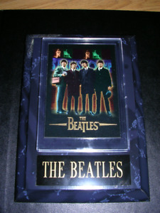 """Beatles. 5"""" x 7""""  plaque and card with Gift Box"""