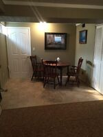 Sept 1: 2 Bdrm Bsmt suite/west end/all utilities included. 1150$