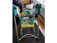 Baby swing chair and rocker.
