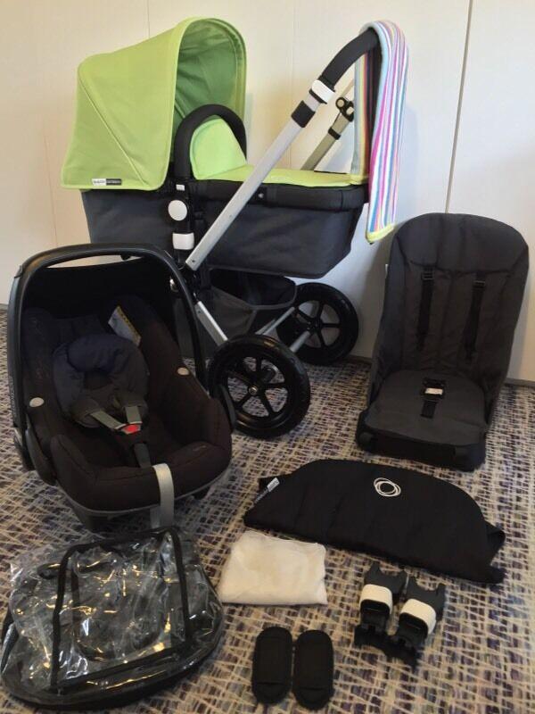 refurbished bugaboo cameleon 2 summer green black maxi. Black Bedroom Furniture Sets. Home Design Ideas